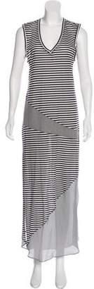 Haute Hippie Silk-Trimmed Striped Dress