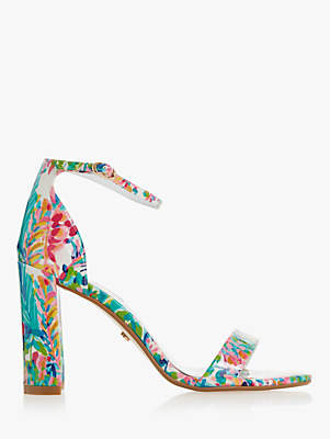 eb7dab1ba91e at John Lewis and Partners · Dune Magnolia Block Heeled Sandals