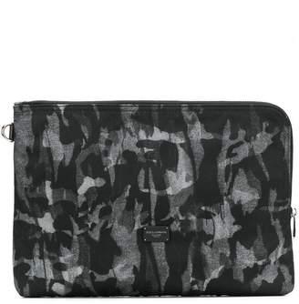 Dolce & Gabbana camouflage print clutch bag
