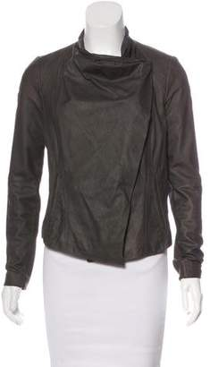Vince Leather Wool-Trimmed Jacket