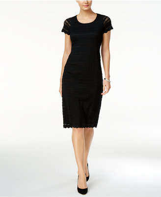 Ronni Nicole Short-Sleeve Lace Dress $79 thestylecure.com