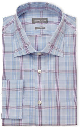 Michael Kors Plaid Regular Fit Dress Shirt