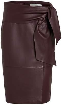 Gestuz AliahGZ Tie Waist Leather Skirt