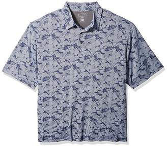 Van Heusen Men's Size Big and Tall Air Print Self Collar Polo