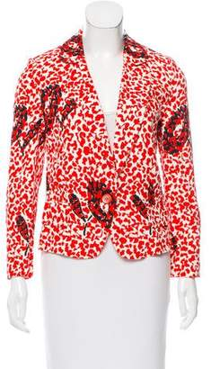Saint Laurent Tailored Printed Blazer w/ Tags