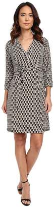 Laundry by Shelli Segal Chain Glam' Matte Jersey Wrap Dress Women's Dress