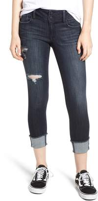 1822 Denim Ripped Roll Cuff Skinny Jeans