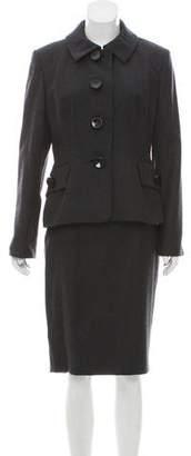 Christian Dior Wool Vintage Skirt Suit