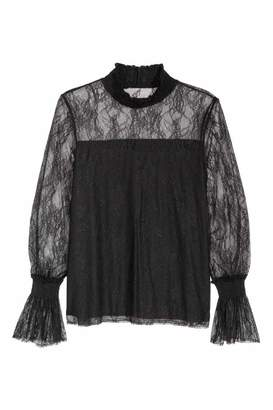 H&M Lace Top with Smocking