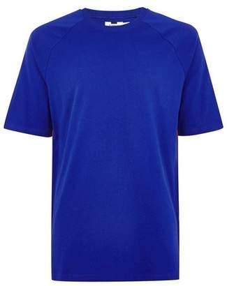 Topman Mens Navy Cobalt Blue Oversized Taping T-Shirt