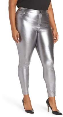 Hue Metallic Denim Leggings