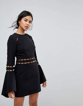 Finders Keepers Finders Solar Fluted Sleeves Mini Dress