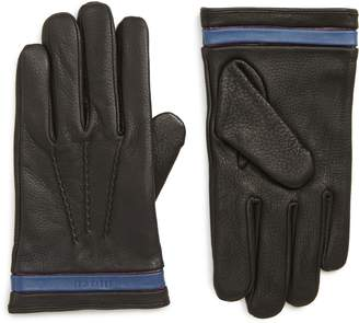 Ted Baker Tipped Leather Touchscreen Gloves