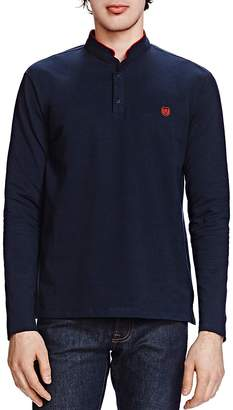The Kooples New Shiny Piqué Long Sleeve Classic Fit Polo