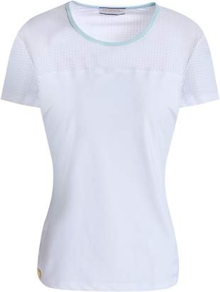 Monreal London Laser-cut Paneled Stretch T-shirt