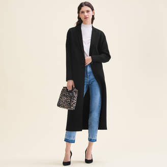 Maje Long double-sided wool coat