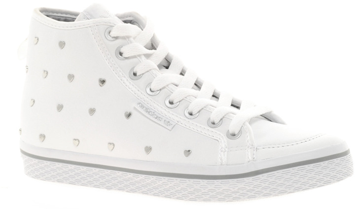 Adidas Honey Silver Heart Mid Trainers