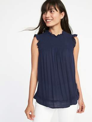 Old Navy Sleeveless Pom-Pom Trim Swing Top for Women