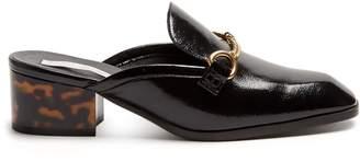 Stella McCartney Block-heel faux-leather backless loafers