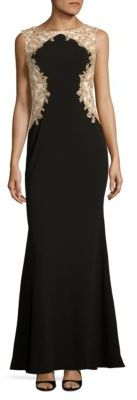 Betsy & Adam Embroidered Trompe l'oeil Gown $279 thestylecure.com