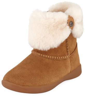 UGG Ramona Suede Boot w/ Shearling Cuff, Toddler