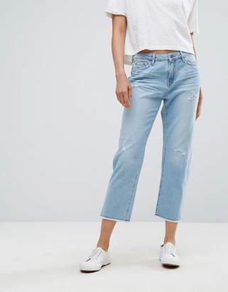 Esprit Straight Fit Distressed Jeans