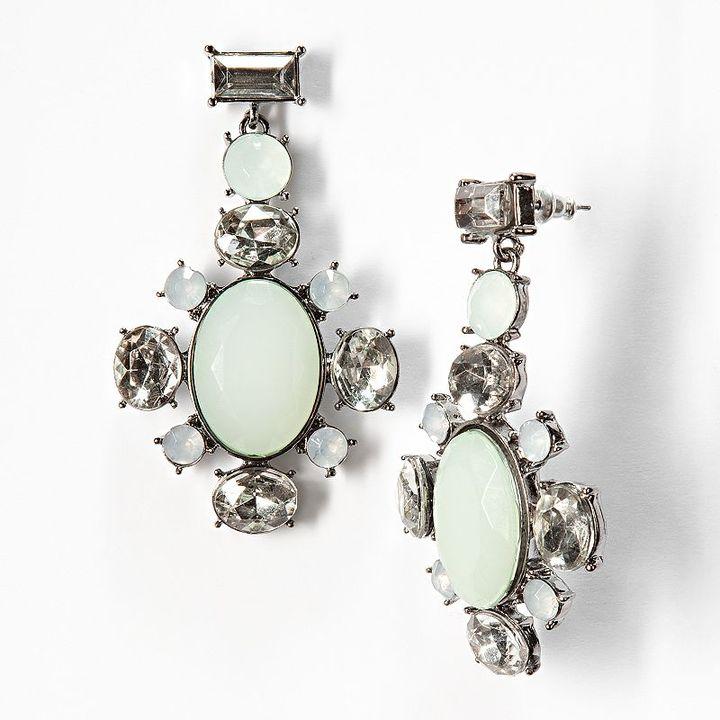 Vera Wang Simply vera jet simulated crystal drop earrings