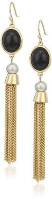 Cole Haan Stone and Fringe Drop Earrings