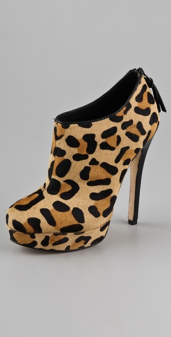 House Of Harlow 1960 Natalia Haircalf Platform Booties
