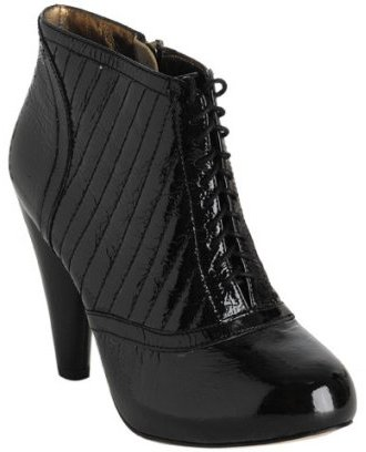 Cynthia Vincent black quilted patent 'Emily' ankle boots