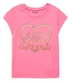 Juicy Couture Little Girl's & Girl's Graphic Cotton Blend Tee