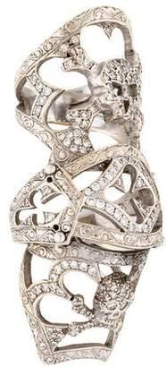 Loree Rodkin 18K Diamond Skull Bondage Ring