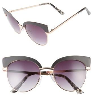 Women's Bp. 53Mm Cat Eye Sunglasses - Black Matte $12 thestylecure.com
