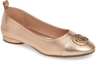8a6e74e8b7f Taryn Rose Penelope Cap Toe Ballet Flat