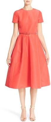 Women's Carolina Herrera Belted Silk Faille A-Line Dress $2,990 thestylecure.com