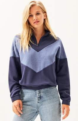 LA Hearts Alaska Chevron HalfZip Sweatshirt