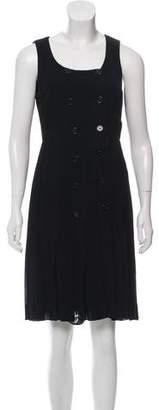 Chanel Double-Breasted Pleated Dress