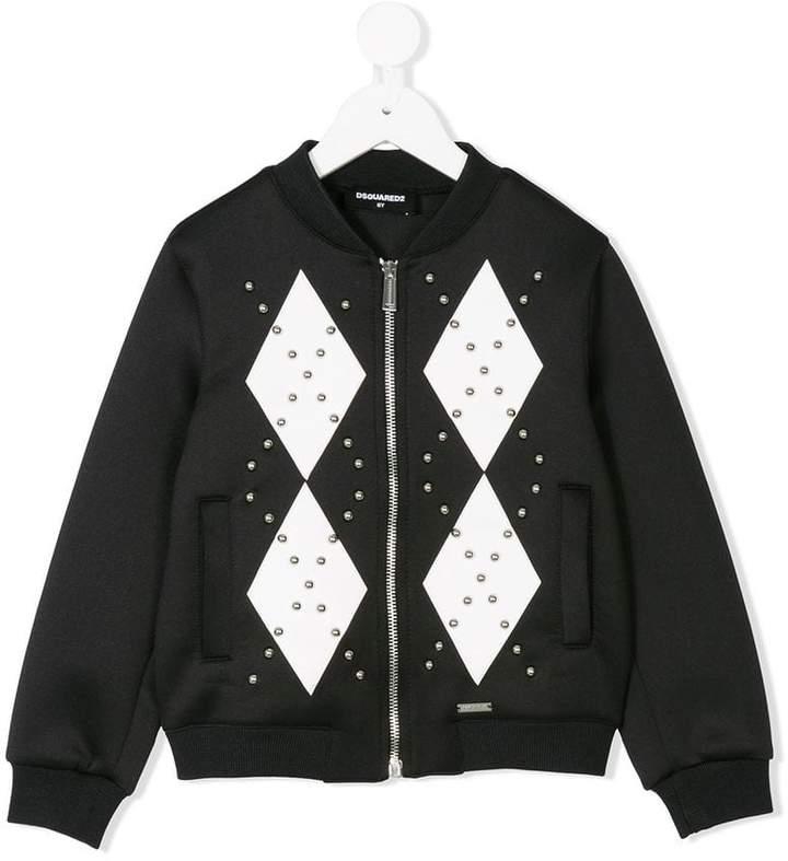 studded bomber jacket