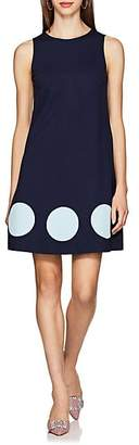Lisa Perry Women's Dot-Inset Ponte A-Line Dress - Navy