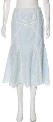 Jonathan Simkhai Embroidered Knee-Length Skirt