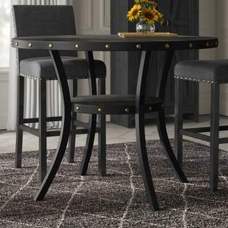 Greyleigh Crooke Round Wood Counter Height Dining Table Greyleigh