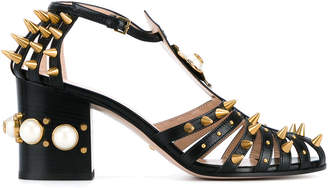 Gucci Black studded 80 Leather sandals