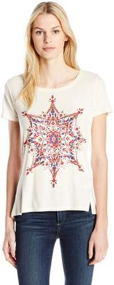Lucky Brand Women's Colorful Medallion Tee