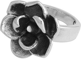 King Baby Studio Women's 925 Sterling Silver Magnolia Ring - Size L