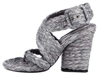 Stella McCartney Straw Crossover Sandals