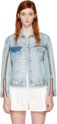 3.1 Phillip Lim Indigo Denim Zip Jacket $495 thestylecure.com