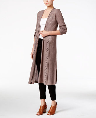 Style & Co. Pointelle-Knit Duster Cardigan, Only at Macy's $69.50 thestylecure.com