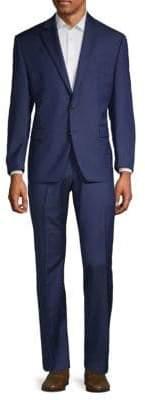 Lauren Ralph Lauren Two-Piece Mini Herringbone Ultraflex Wool Suit