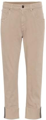 Brunello Cucinelli High-rise cropped jeans