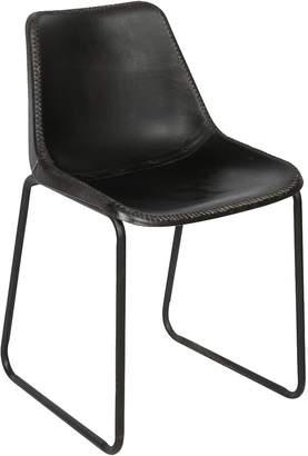 Casa Uno Dining Chairs Robertson Leather Dining Chair, Black